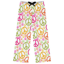 Peace Sign Womens Pajama Pants (Personalized)