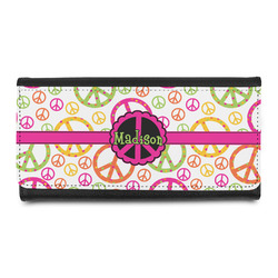 Peace Sign Leatherette Ladies Wallet (Personalized)