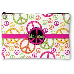 Peace Sign Zipper Pouch (Personalized)