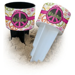 Peace Sign Beach Spiker Drink Holder (Personalized)