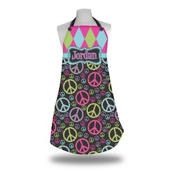 Harlequin & Peace Signs Apron (Personalized)