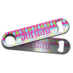 Harlequin & Peace Signs Bar Bottle Opener w/ Name or Text