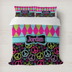 Harlequin & Peace Signs Duvet Covers (Personalized)