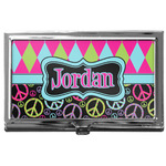 Harlequin & Peace Signs Business Card Case