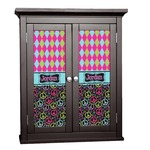 Harlequin & Peace Signs Cabinet Decal - Custom Size (Personalized)