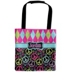 Harlequin & Peace Signs Auto Back Seat Organizer Bag (Personalized)