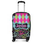 Harlequin & Peace Signs Suitcase (Personalized)