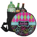 Harlequin & Peace Signs Collapsible Cooler & Seat (Personalized)