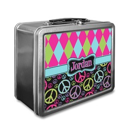 Harlequin & Peace Signs Lunch Box (Personalized)