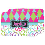 Harlequin & Peace Signs Dish Drying Mat (Personalized)