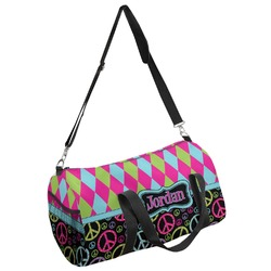 Harlequin & Peace Signs Duffel Bag (Personalized)