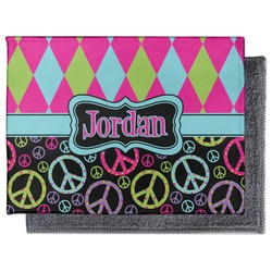 Harlequin & Peace Signs Microfiber Screen Cleaner (Personalized)