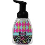 Harlequin & Peace Signs Foam Soap Bottle (Personalized)