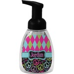 Harlequin & Peace Signs Foam Soap Dispenser (Personalized)