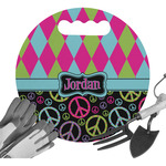 Harlequin & Peace Signs Gardening Knee Cushion (Personalized)