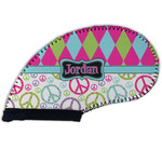 Harlequin & Peace Signs Golf Club Cover (Personalized)