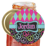 Harlequin & Peace Signs Jar Opener (Personalized)