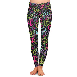 Harlequin & Peace Signs Ladies Leggings (Personalized)