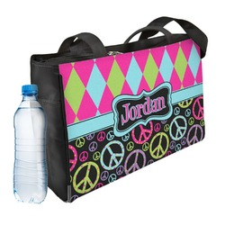 Harlequin & Peace Signs Ladies Workout Bag (Personalized)