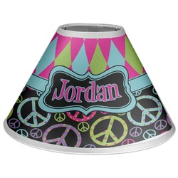 Harlequin & Peace Signs Coolie Lamp Shade (Personalized)