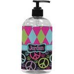 Harlequin & Peace Signs Plastic Soap / Lotion Dispenser (Personalized)
