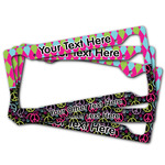 Harlequin & Peace Signs License Plate Frame (Personalized)