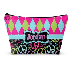 Harlequin & Peace Signs Makeup Bags (Personalized)