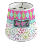Harlequin & Peace Signs Empire Lamp Shade (Personalized)