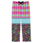 Harlequin & Peace Signs Mens Pajama Pants (Personalized)
