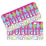 Harlequin & Peace Signs Mini/Bicycle License Plates (Personalized)