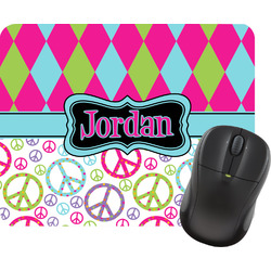 Harlequin & Peace Signs Mouse Pad (Personalized)