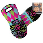 Harlequin & Peace Signs Neoprene Oven Mitt (Personalized)