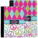 Harlequin & Peace Signs Notebook Padfolio w/ Name or Text