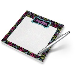 Harlequin & Peace Signs Notepad (Personalized)