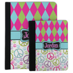Harlequin & Peace Signs Padfolio Clipboard (Personalized)