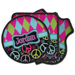 Harlequin & Peace Signs Iron on Patches (Personalized)