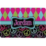 Harlequin & Peace Signs Comfort Mat (Personalized)