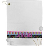 Harlequin & Peace Signs Golf Towel (Personalized)