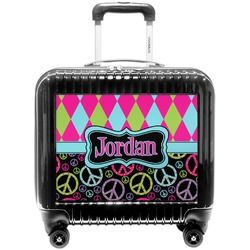 Harlequin & Peace Signs Pilot / Flight Suitcase (Personalized)