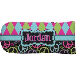 Harlequin & Peace Signs Putter Cover (Personalized)