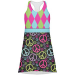 Harlequin & Peace Signs Racerback Dress (Personalized)