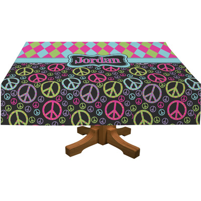 Harlequin & Peace Signs Tablecloth (Personalized)