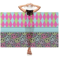 Harlequin & Peace Signs Sheer Sarong (Personalized)