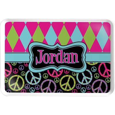 Harlequin & Peace Signs Serving Tray (Personalized)