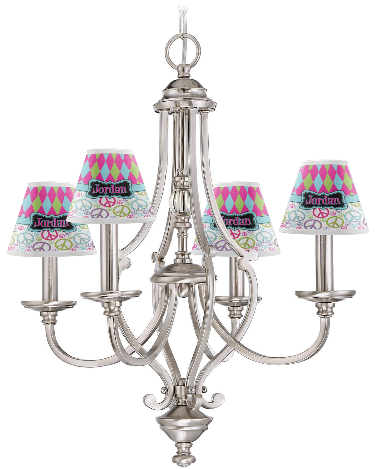 Harlequin & Peace Signs Chandelier Lamp Shade (Personalized ...
