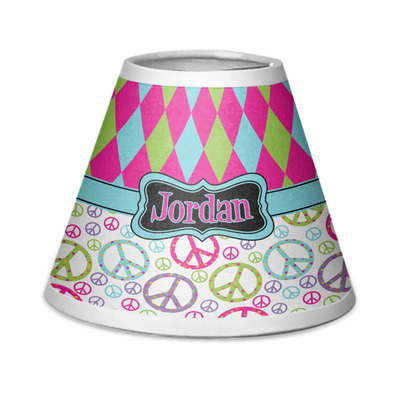 Harlequin & Peace Signs Chandelier Lamp Shade (Personalized)