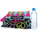 Harlequin & Peace Signs Sports & Fitness Towel (Personalized)
