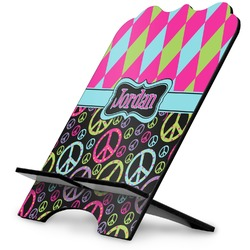 Harlequin & Peace Signs Stylized Tablet Stand (Personalized)