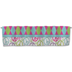 Harlequin & Peace Signs Valance (Personalized)