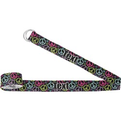 Harlequin & Peace Signs Yoga Strap (Personalized)